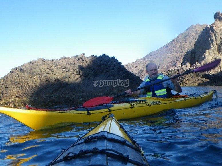 Disfrutando de una salida en kayak