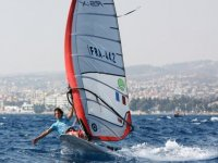 Windsurfing on the beach