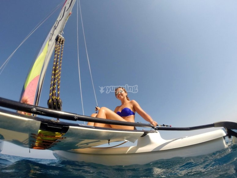 Session on a catamaran