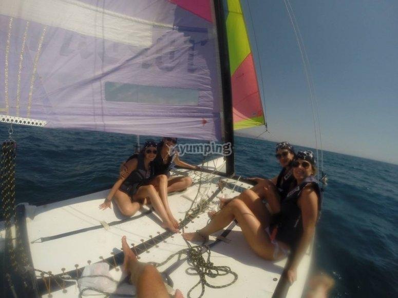Climb aboard a catamaran