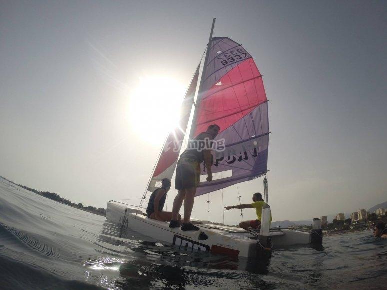 Catamaran session