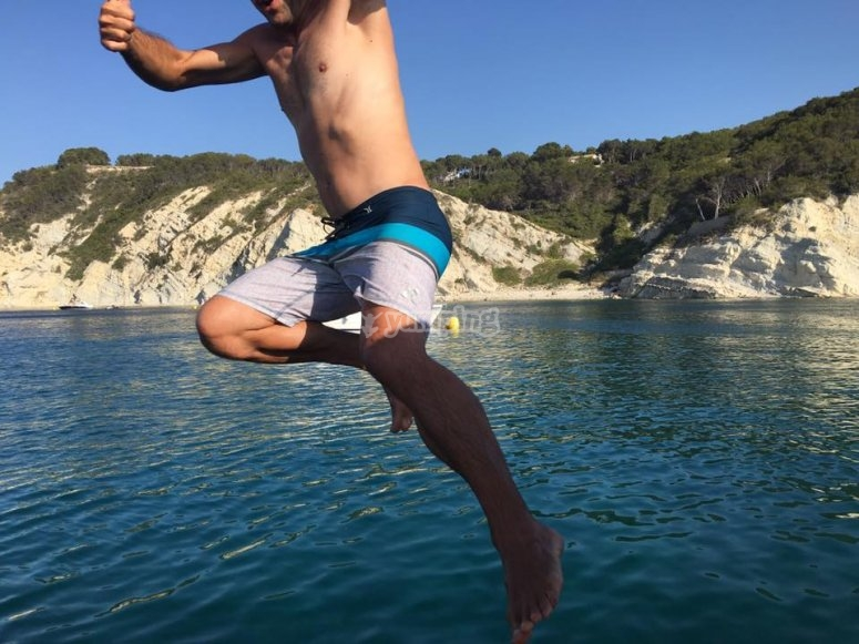 Jumping off to the sea