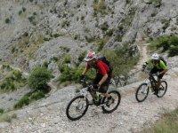 山区的山地自行车