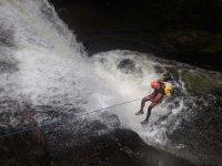 Descenso de barranco en el Montseny y fotos