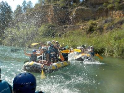 Descenso de rafting en el Cabriel 4 horas niños