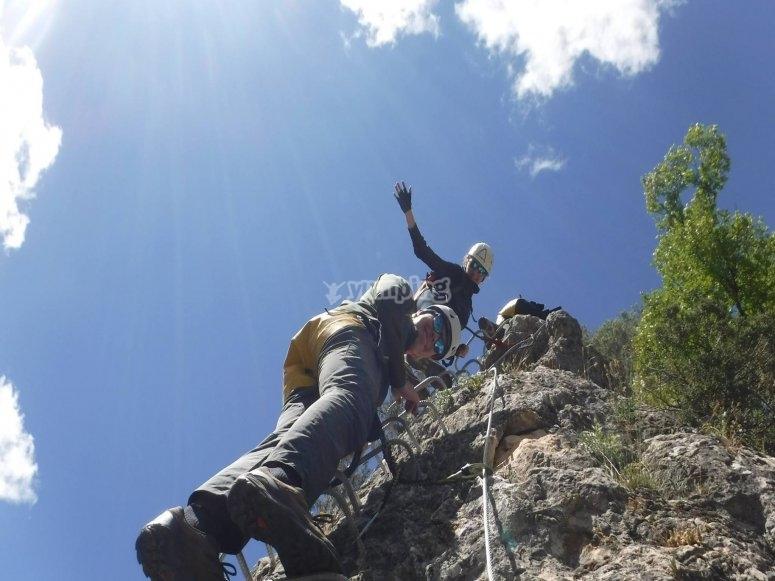 Giù per la scala