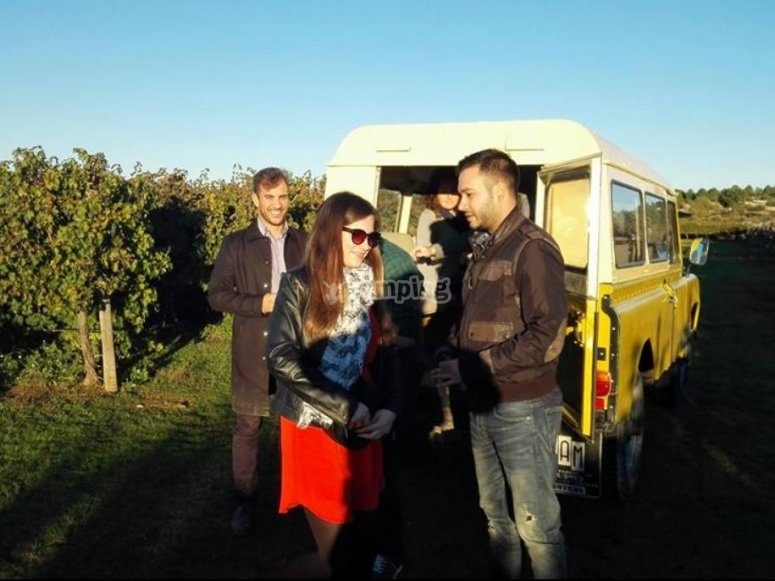 Visiting the wineyard