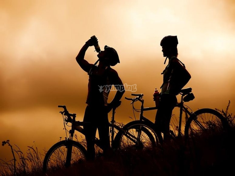 Descansando con las bicicletas
