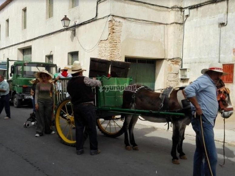 Preparing the cart!