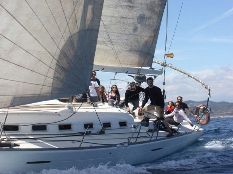 Partenza in barca a Barcellona