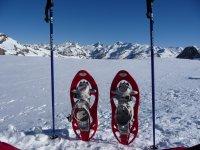 Raquetas de nieve y diversion