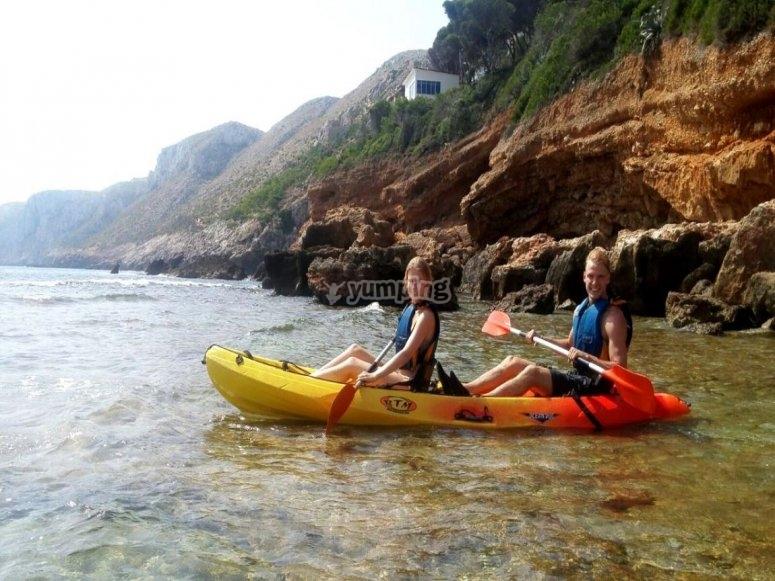 Kayaks en Denia