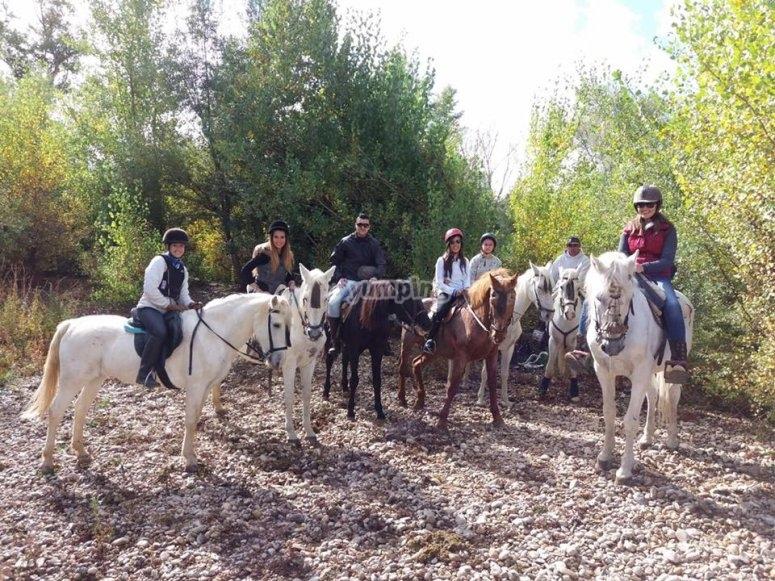 En ruta a caballo