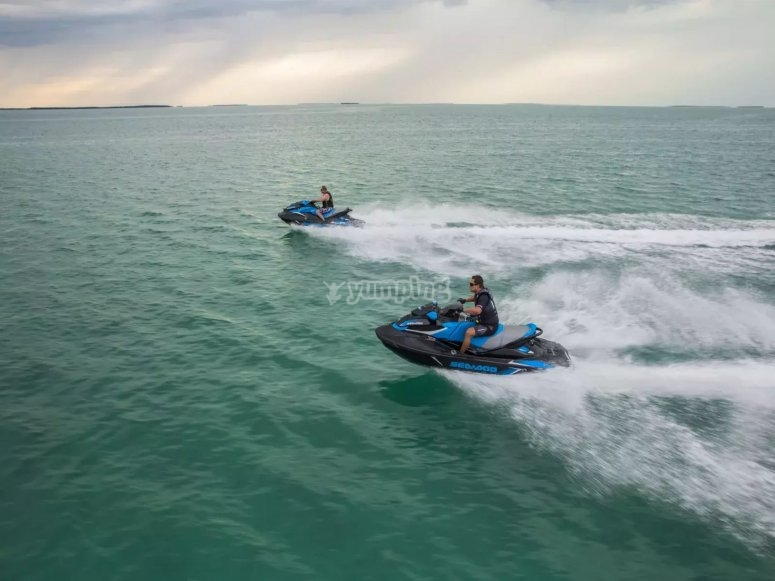 Ruta en moto de agua en Marbella