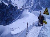 Bajando de la Aguille de Midi - Chamonix