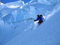 阿尔卑斯山的滑雪场