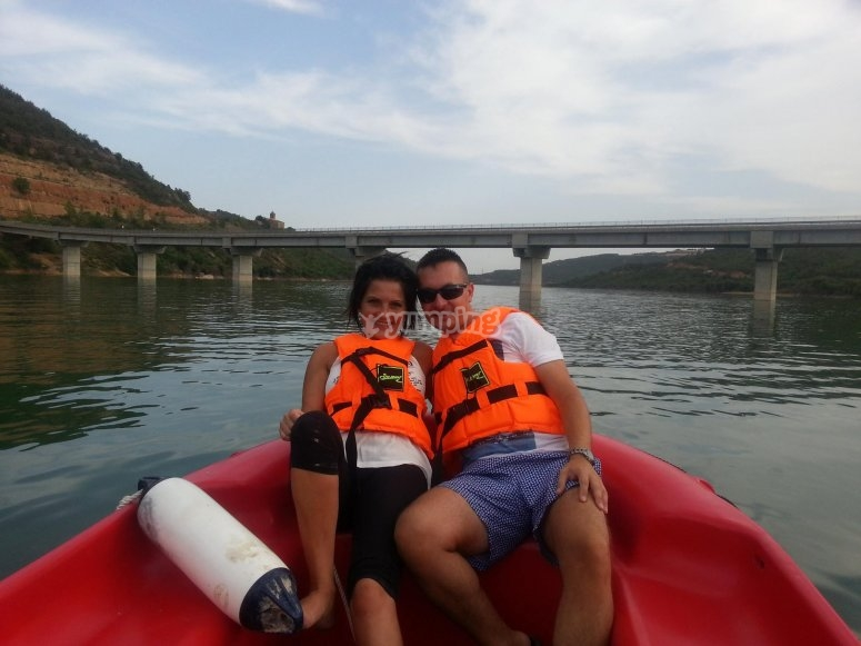 Paseando en barca