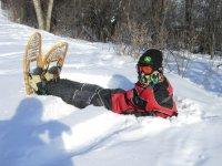 Alto en la travesía por la nieve