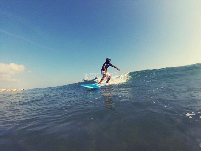 Surfing in Gandía