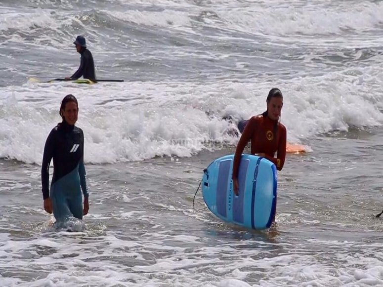 The surfing session is over