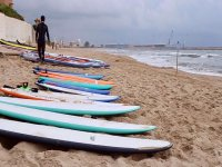 Surfboards on the shore