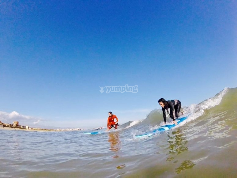 Levantandose con la ola