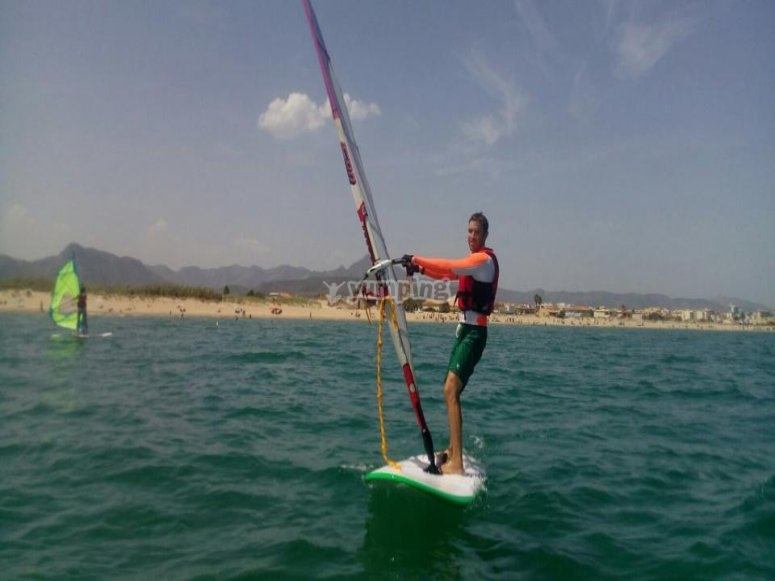 Classe di windsurf senza marea