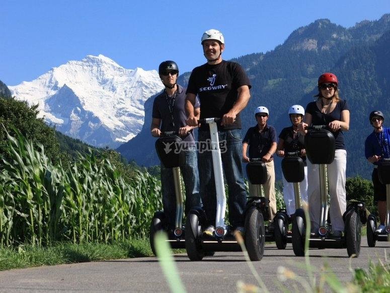 A segway trip in the great outdoors
