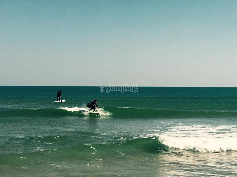 Surfing in Gandia