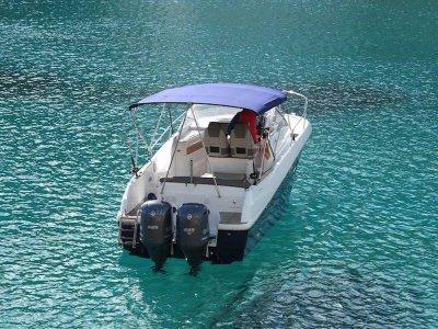 Paseo en barco por Ibiza 8h temporada Alta