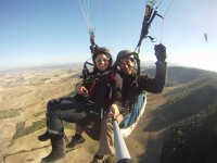 Tandem paragliding with instructor in Cádiz