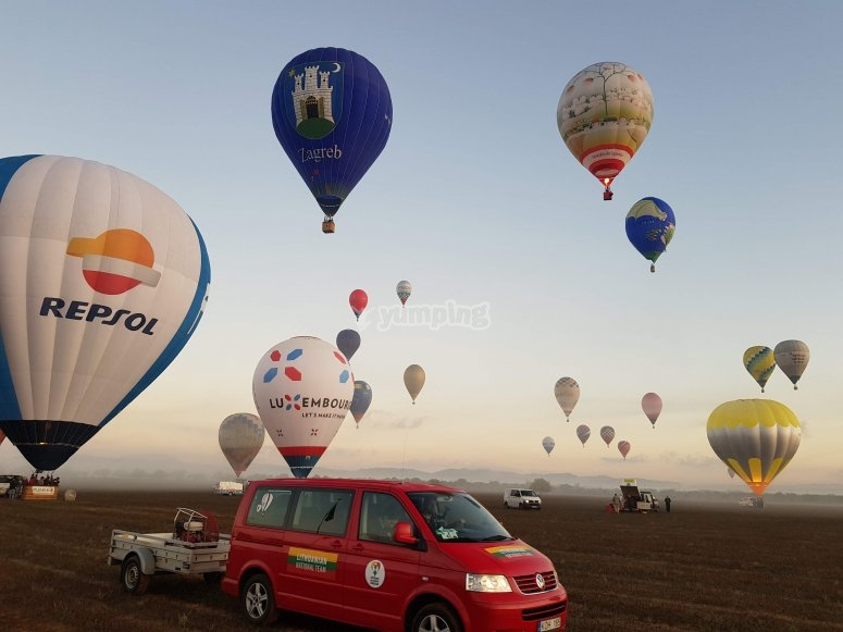 马略卡岛的气球