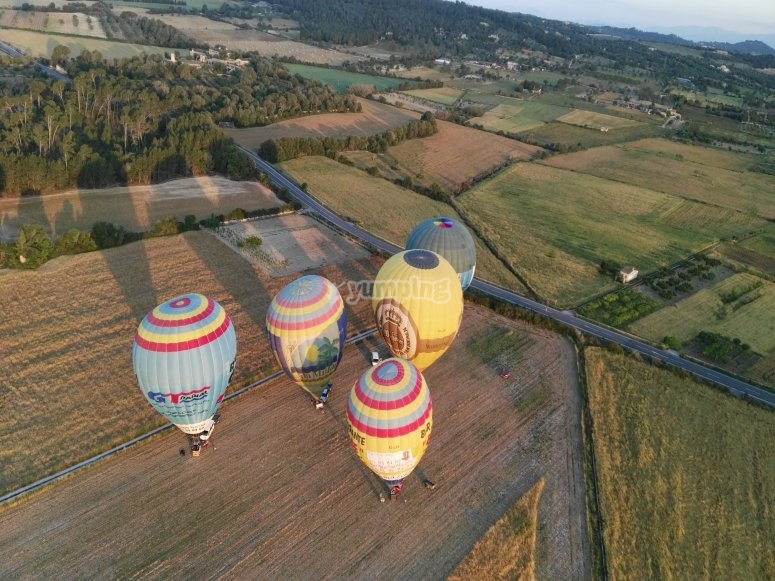 Balloon ready to fly