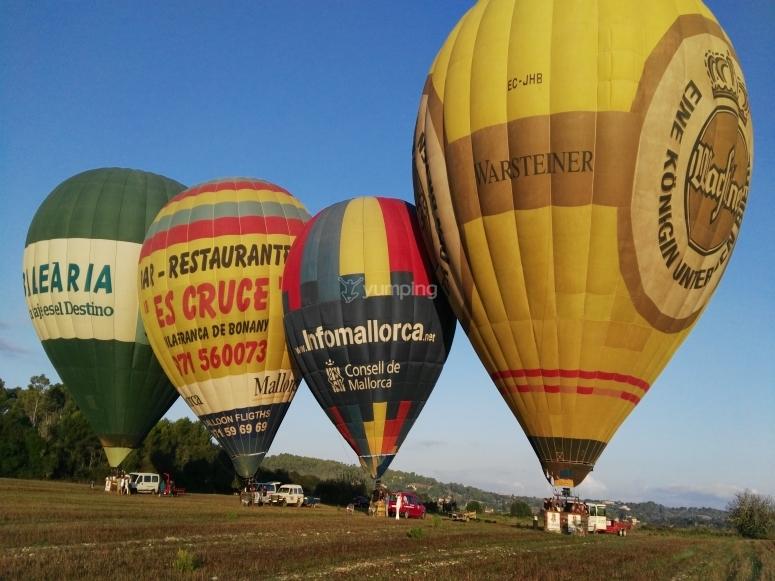 Hot air balloon ride in Mallorca