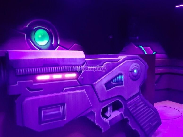 Armamento de laser tag