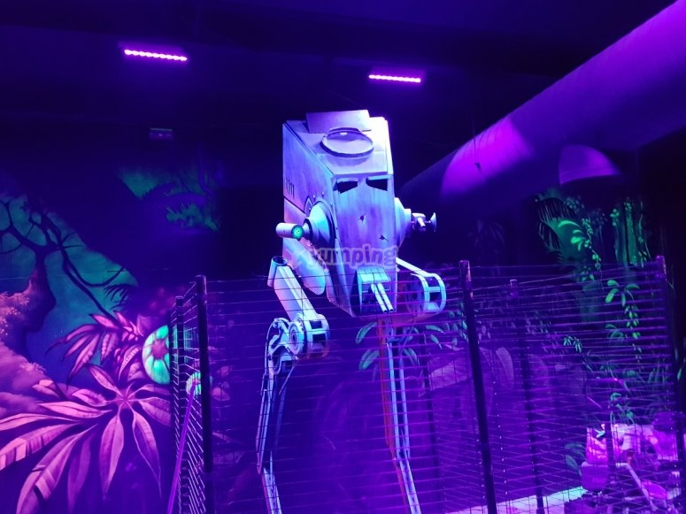 Robot nel tag laser