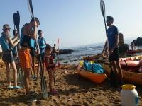 在德尼亚进行浮潜和洞穴学的皮划艇之旅