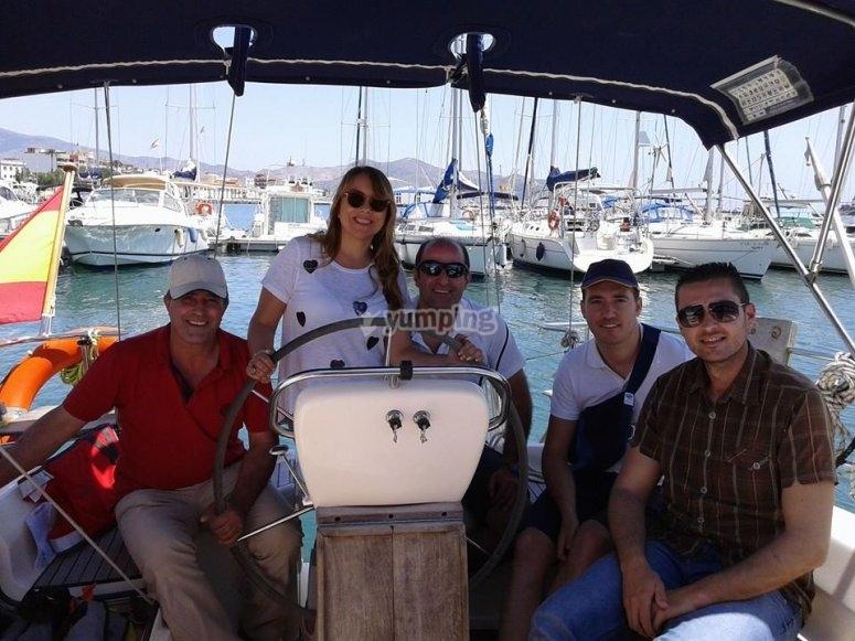 Alumnos del curso de navegación