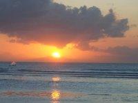 日落的海滩日落