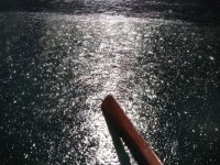 View of the oar in the sea