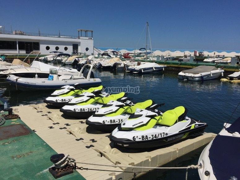 Jet ski Platja d'Aro港口