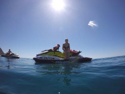 Percorso di jet ski a Platja d'Aro e snorkeling 1h
