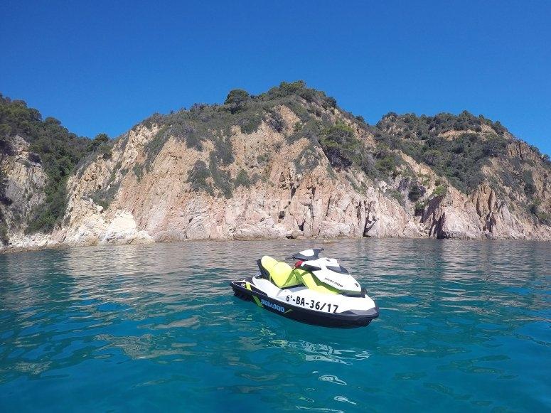 De excursión en moto de agua