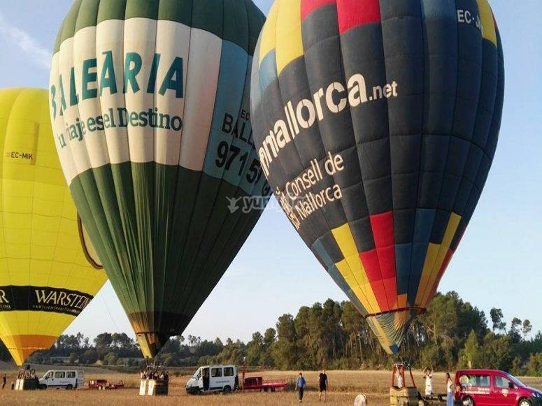 气球准备飞行