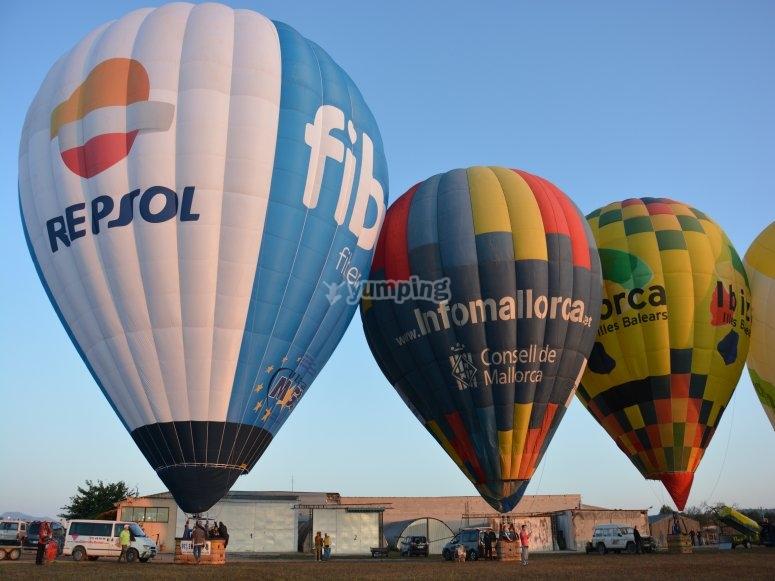 起飞前的气球