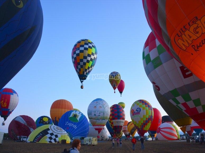 Hot-air balloon ride in Majorca
