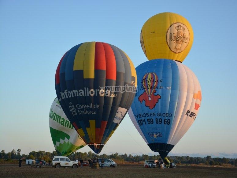 马洛卡起飞的气球