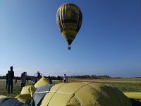 Balloon at the take-off