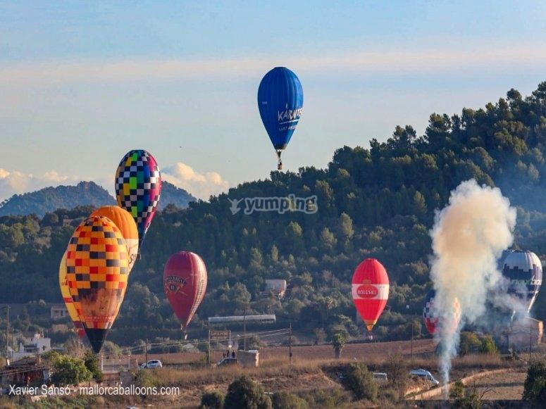 Balloon ride over Mallorca