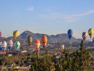 乘坐热气球穿越Sierra de Tramontana 2人